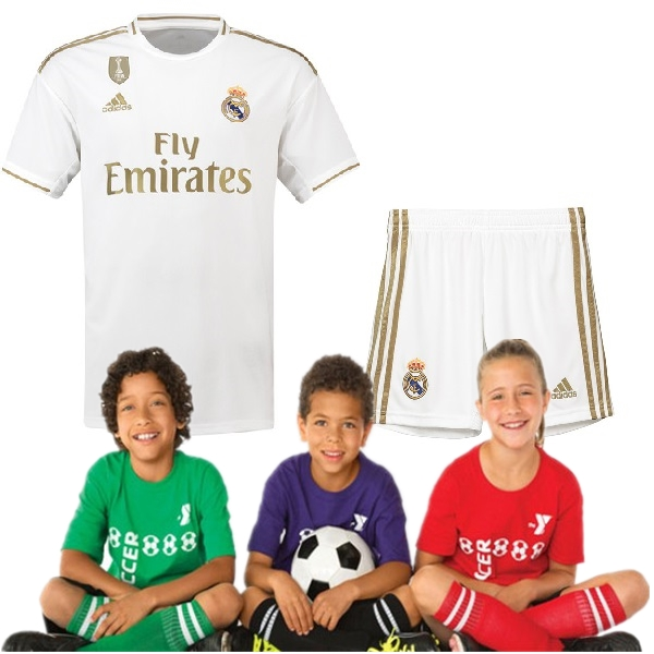 Kid's Real Madrid Home Suit 19/20 (Customizable)