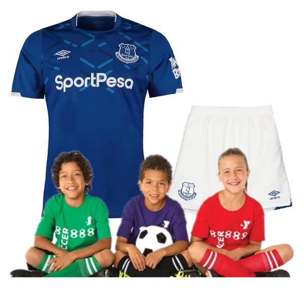 Kid's Everton Home Jersey 19/20 (Customizable)