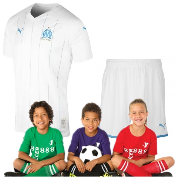 Kid's Olympique de Marseille home suit 19/20 (Customizable)