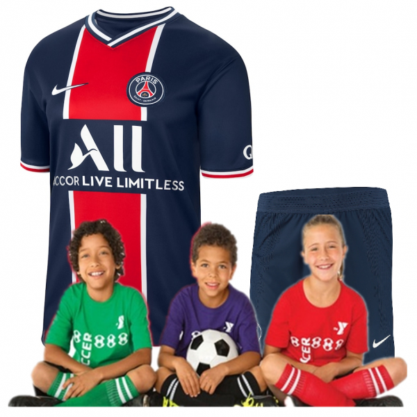 Kid's Paris Saint-Germain Home Suit 20/21 (Customizable)