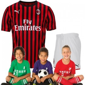 Kid's AC Milan Home Suit 19/20 (Customizable)