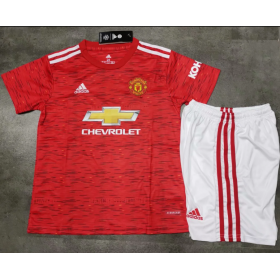 Kid's Manchester United Home Suit 20/21 (Customizable)