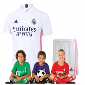 Kid's Real Madrid Home Suit 20/21 (Customizable)