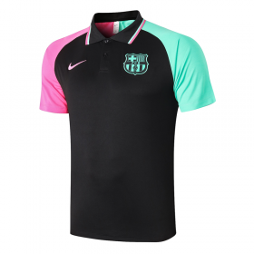 Barcelona POLO Shirts 20/21 Black sleeve two-tone