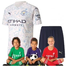 Kid's Manchester City Third Suit 20/21(Customizable)
