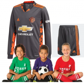Kid's Manchester United Home suit 20/21 goalkeeper (Customizable)