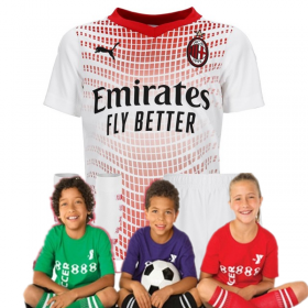Kid's AC Milan Away Suit 20/21 (Customizable)