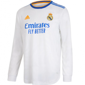 Real Madrid Home Long sleeve Jersey 21/22 (Customizable)