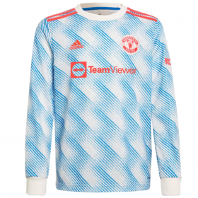 Manchester United Away Long sleeve Jersey 21/22 (Customizable)