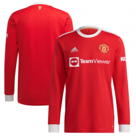 Manchester United Home Long sleeve Jersey 21/22 (Customizable)