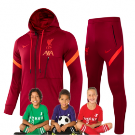 kid's 21/22 Liverpool Training Suits With Hat