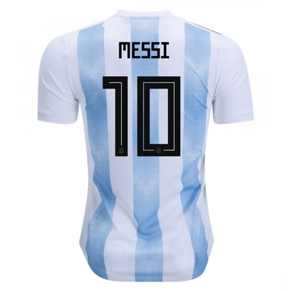 Argentina World-Cup #10 Messi Home Jersey 2018