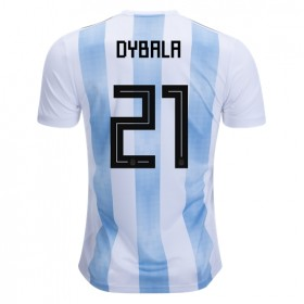 Argentina World-Cup #21 Dybala Home Jersey 2018