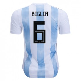 Argentina World-Cup #6 Biglia Home Jersey 2018