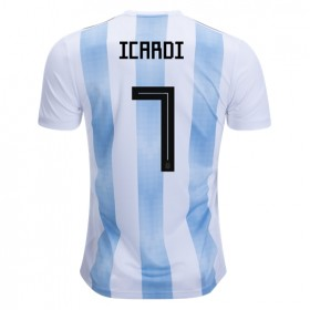 Argentina World-Cup #7 Icardi Home Jersey 2018