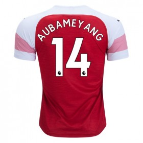 Arsenal #14 AUBAMEYANG Home Jersey 18/19