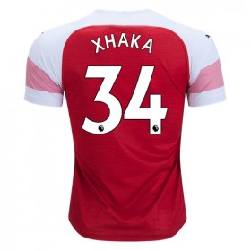 Arsenal #34 XHAKA Home Jersey 18/19
