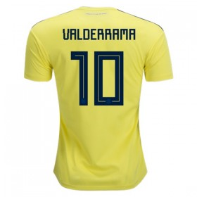 Colombia World-Cup #10 VALDERRAMA Home Jersey 2018