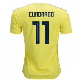 Colombia World-Cup #11 CUADRADO Home Jersey 2018