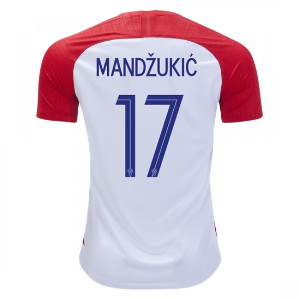 02d842e40 Croatia World-Cup #17 MANDZUKIC Home Jersey 2018