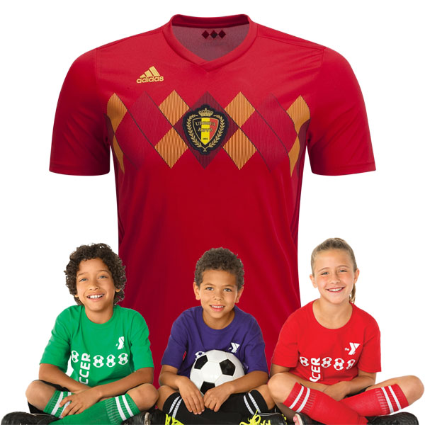 Kid's Belgium World-Cup Home Suit 2018(Customizable)