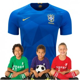 Kid's Brazil World-Cup Away Suit 2018(Customizable)