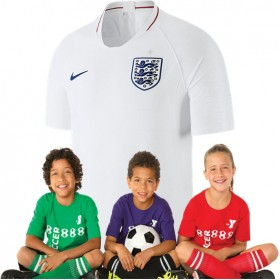 Kid's England World-Cup Home Suit 2018(Customizable)