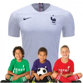 Kid's France World-Cup Away Suit 2018(Customizable)