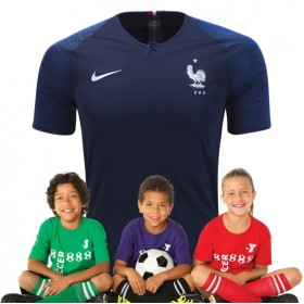 Kid's France World-Cup Home Suit 2018(Customizable)