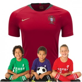Kid's Portugal World-Cup Home Suit 2018(Customizable)