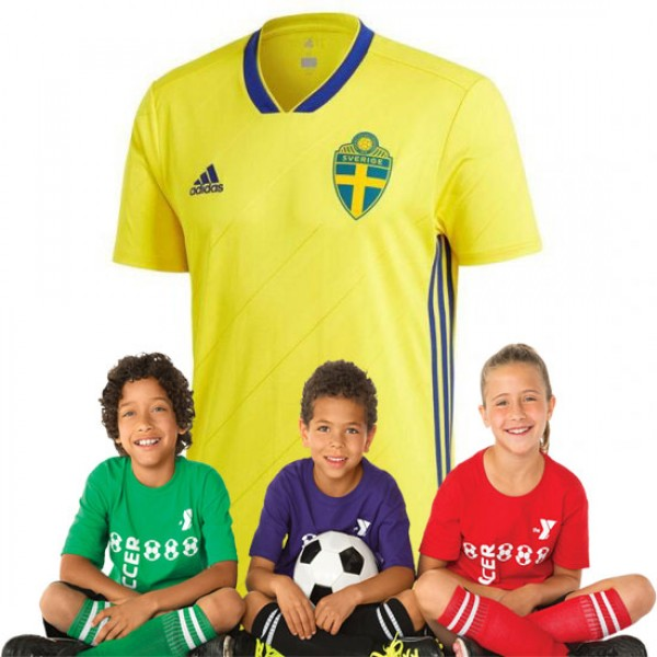 Kid's Sweden World-Cup Home Suit 2018(Customizable)