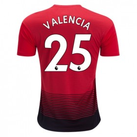 Manchester United #25 VALENCIA Home Jersey 18/19