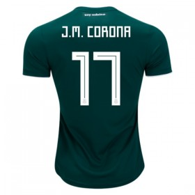 Mexico World-Cup #17 J.M. CORONA Home Jersey 2018
