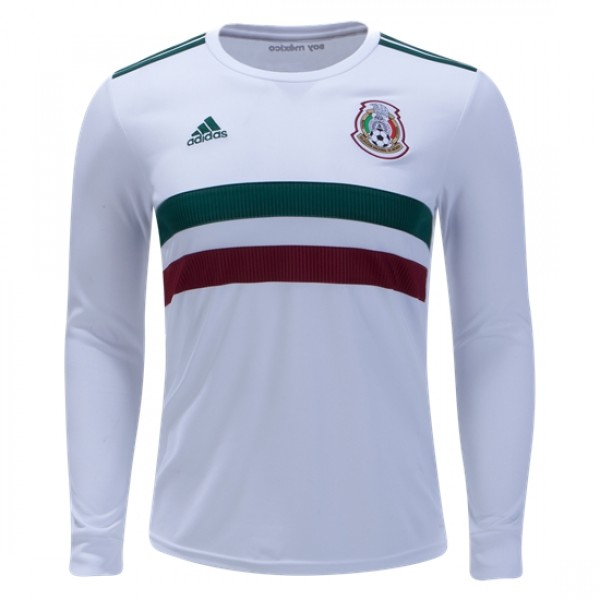 Mexico World-Cup Long Sleeve Away Jersey 2018 (Customizable)