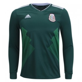 Mexico World-Cup Long Sleeve Home Jersey 2018 (Customizable)