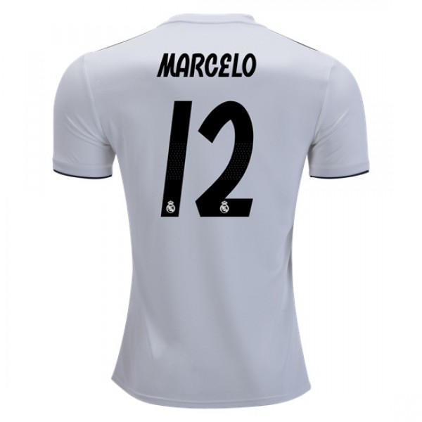 Real Madrid #12 MARCELO Home Jersey 18/19